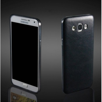 Силиконовый матовый непрозрачный чехол текстура Кожа для Samsung Galaxy A8