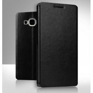 Чехол флип подставка водоотталкивающий для Samsung Galaxy A8 Черный