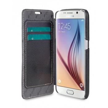 Кожаный чехол горизонтальная книжка с внутренними отсеками для Samsung Galaxy S6