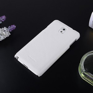 Кожаный чехол накладка Back Cover для Samsung Galaxy Note 3 Белый