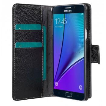 Кожаный чехол портмоне с крепежной застежкой для Samsung Galaxy Note 5