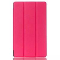 Чехол флип подставка сегментарный на поликарбонатной основе для ASUS ZenPad 8 Пурпурный