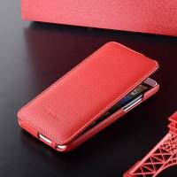 Кожаный чехол вертикальная книжка с защёлкой для HTC One E8 Красный