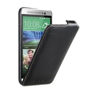 Кожаный чехол вертикальная книжка с защёлкой для HTC One E8