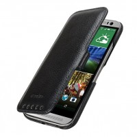 Кожаный чехол горизонтальная книжка с защёлкой для HTC One (M8)