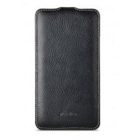 Кожаный чехол вертикальная книжка для Nokia Lumia 1320 Черный