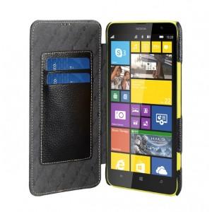 Кожаный чехол горизонтальная книжка с отделением для карт для Nokia Lumia 1320