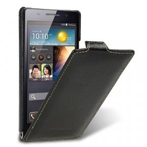 Кожаный чехол вертикальная книжка с защёлкой для Huawei Ascend P6