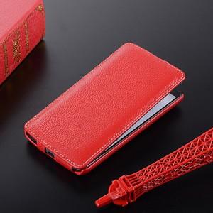 Кожаный чехол вертикальная книжка с защёлкой для LG G3 (Dual-LTE) Красный
