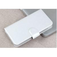 Текстурный чехол портмоне подставка на пластиковой основе с магнитной защелкой для MTS Smart Start Белый