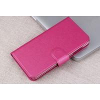 Текстурный чехол портмоне подставка на пластиковой основе с магнитной защелкой для MTS Smart Start Розовый