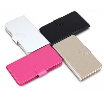 Текстурный чехол портмоне подставка на пластиковой основе с магнитной защелкой для MTS Smart Start