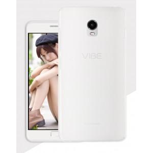 Силиконовый матовый полупрозрачный чехол для Lenovo Vibe P1 Белый