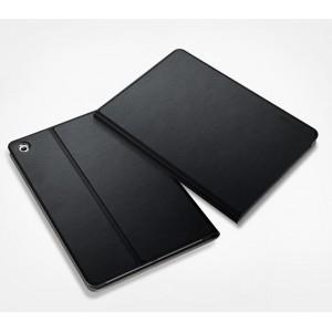 Чехол смарт флип подставка текстура Металлик на поликарбонатной основе для Nokia N1 Черный