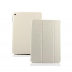 Чехол флип подставка сегментарный на поликарбонатной основе для Nokia N1 Белый