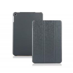 Чехол флип подставка сегментарный на поликарбонатной основе для Nokia N1 Серый