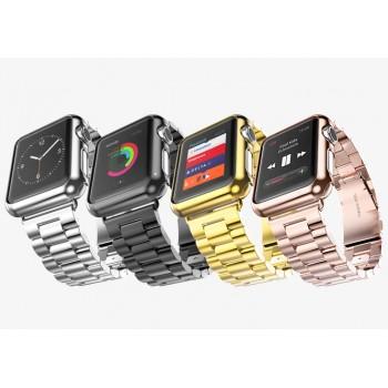 Ультратонкая 0.6 мм поликарбонатная накладка с металлизированным покрытием для Apple Watch 38мм