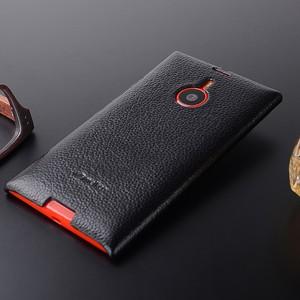 Кожаный чехол накладка Back Cover Lumia 1520 Черный