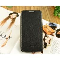 Кожаный чехол горизонтальная книжка с отделением для карт для Samsung Galaxy Mega 5.8 Черный