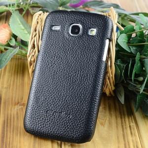 Кожаный чехол накладка Back Cover для Samsung Galaxy Core