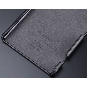 Кожаный чехол накладка Back Cover для Sony Xperia Z1 Черный