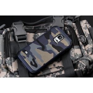Двухкомпонентный чехол с силиконовой подложкой и поликарбонатной накладкой Камуфляж для Samsung Galaxy S5 (Duos)