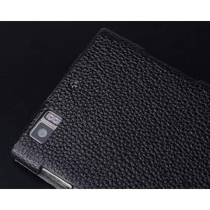 Кожаный чехол вертикальная книжка с защёлкой для Lenovo K900 Черный