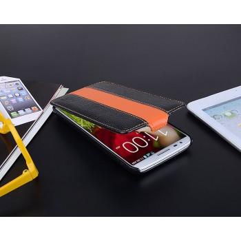 Кожаный дизайнерский чехол вертикальная книжка с защёлкой Sport Line для LG Optimus G2