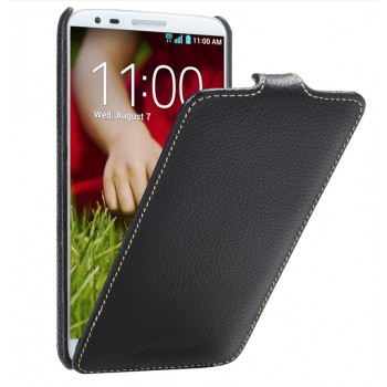 Кожаный чехол вертикальная книжка с защёлкой для LG Optimus G2