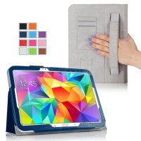 Чехол подставка с внутренними отсеками серия Full Cover для Samsung Galaxy Tab S 10.5 Синий