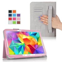 Чехол подставка с внутренними отсеками серия Full Cover для Samsung Galaxy Tab S 10.5 Розовый