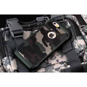 Двухкомпонентный чехол с силиконовой подложкой и поликарбонатной накладкой Камуфляж для Iphone 6/6s
