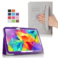 Чехол подставка с внутренними отсеками серия Full Cover для Samsung Galaxy Tab S 10.5 Фиолетовый