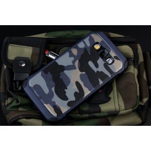 Двухкомпонентный чехол с силиконовой подложкой и поликарбонатной накладкой Камуфляж для Samsung Galaxy E7