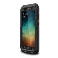 Антиударный пылевлагозащищенный гибридный премиум чехол силикон/металл/закаленное стекло для Xiaomi Mi Note Черный
