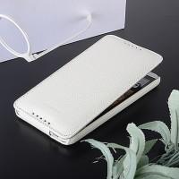 Кожаный чехол вертикальная книжка с защёлкой для HTC Desire 816 Белый