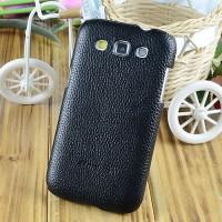 Кожаный чехол накладка Back Cover для Samsung Galaxy Win Черный