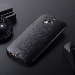 Кожаный чехол накладка Back Cover для HTC One (M8)