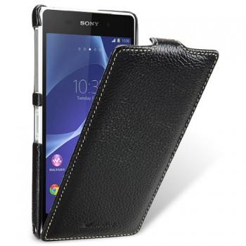 Кожаный чехол вертикальная книжка с защёлкой для Sony Xperia Z2