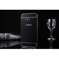 Двухкомпонентный чехол с металлическим бампером и поликарбонатной накладкой для Samsung Galaxy Core Prime Черный