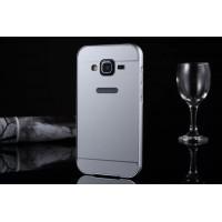 Двухкомпонентный чехол с металлическим бампером и поликарбонатной накладкой для Samsung Galaxy Core Prime Белый
