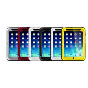Антиударный пылевлагозащищенный гибридный премиум чехол силикон/металл/закаленное стекло для Ipad Air