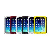 Антиударный пылевлагозащищенный гибридный премиум чехол силикон/металл/закаленное стекло для Ipad Mini