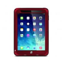 Антиударный пылевлагозащищенный гибридный премиум чехол силикон/металл/закаленное стекло для Ipad 2/3/4 Красный