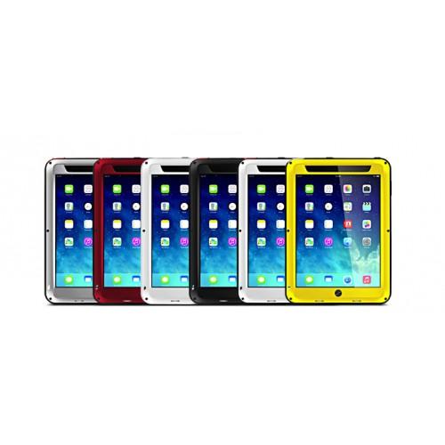 Антиударный пылевлагозащищенный гибридный премиум чехол силикон/металл/закаленное стекло для Ipad 2/3/4