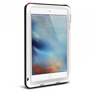 Антиударный пылевлагозащищенный гибридный премиум чехол силикон/металл/закаленное стекло для Ipad Mini 4