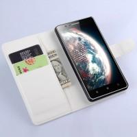 Чехол портмоне подставка с защелкой для Lenovo A536 Ideaphone Белый