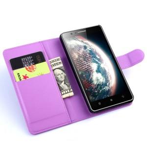 Чехол портмоне подставка с защелкой для Lenovo A536 Ideaphone Фиолетовый