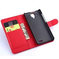 Чехол портмоне подставка с защелкой для Lenovo A536 Ideaphone Красный