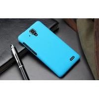 Пластиковый матовый непрозрачный чехол для Lenovo A536 Ideaphone Голубой